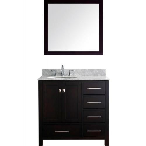 """Caroline Avenue 36"""" Single Bathroom Vanity Cabinet Set in Espresso"""