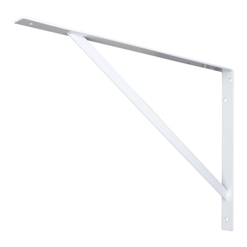 "Heavy Duty Shelf Utility Bracket.  Finish: White.  14"" heigh"