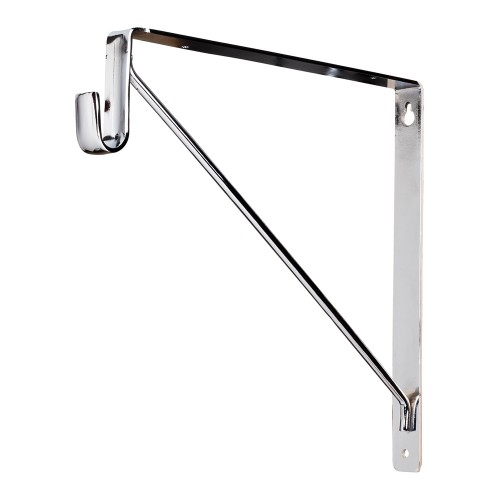 "Shelf & Rod Support Bracket.  Finish: Chrome.  10-3/4"" heigh"