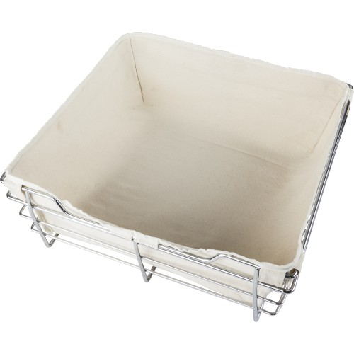 Canvas basket liner for POB1-142911 basket.  Features hook a
