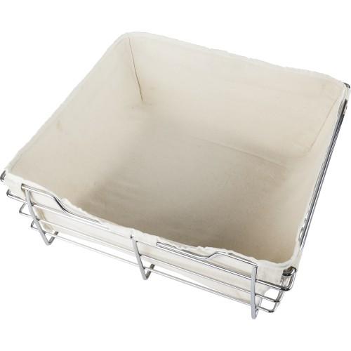Canvas basket liner for POB1-14296 basket.  Features hook an