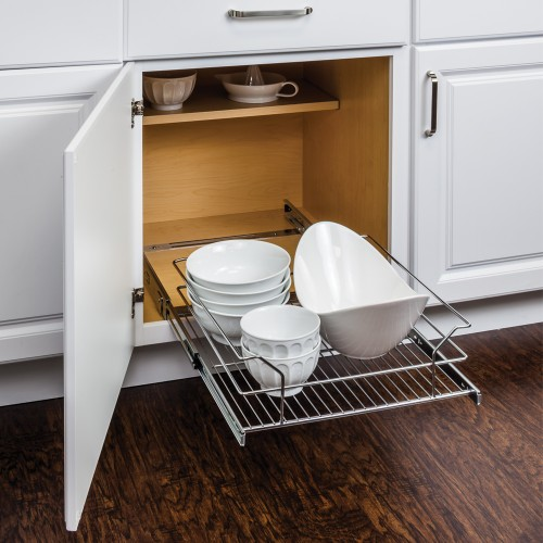 "Metal Basket Pullout Organizer for 21"" Base Cabinet   Retail"