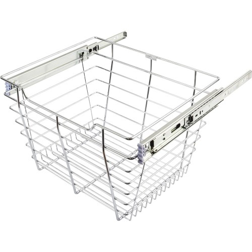 "Closet Pull-Out Basket 14""DX17""WX6""H.  Heavy-duty wire const"