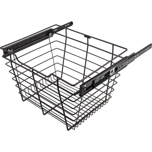 "Closet Pull-Out Basket 16""DX17""WX11""H.  Heavy-duty wire cons"