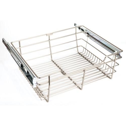 "Closet Pullout Basket 16"" D x 23"" W x 6"" H.  Heavy-duty wire"