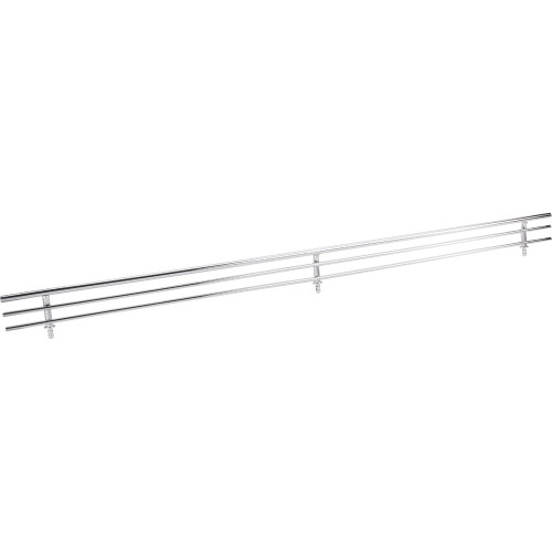 """17"""" Wire Shoe fences for shelving. Dowels are on 32mm center"""