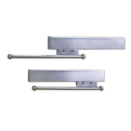 295mm Sliding Wardrobe Hanger:  Polished Chrome