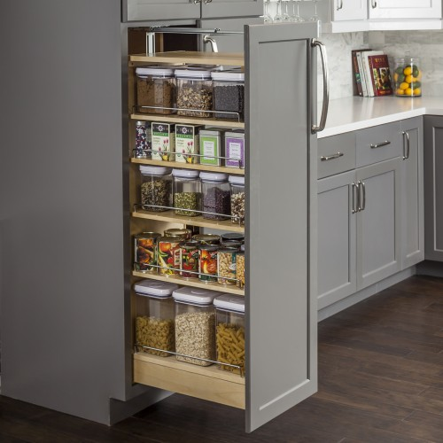 """Pantry Cabinet Pullout 5-1/2"""" x 22-1/4"""" x 53""""."""