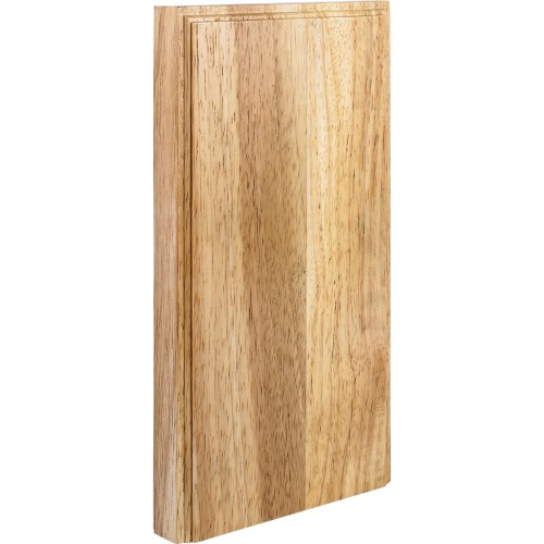 """10"""" x 5-1/2"""" x 7/8"""" Plinth Block Species:  Rubberwood"""