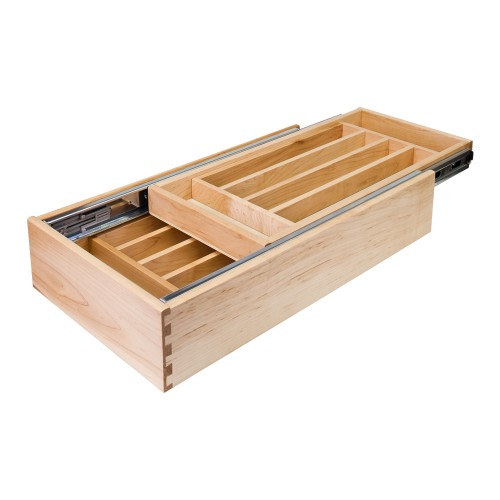 """Nested Cutlery Drawer for 18"""" Base Cabinet."""