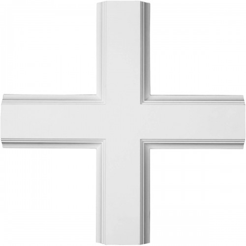 "20""W x 2""P x 20""L Inner Cross Intersection for 5"" Traditional Coffered Ceiling System"