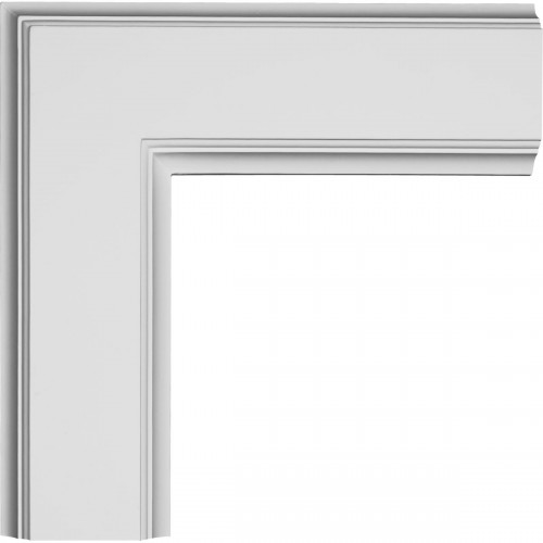 "14""W x 2""P x 14""L Inner Corner for 5"" Traditional Coffered Ceiling System"