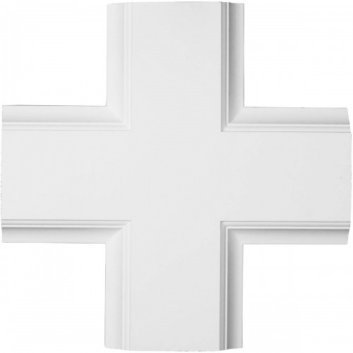 """20""""W x 2""""P x 20""""L Inner Cross Intersection for 8"""" Traditional Coffered Ceiling System"""
