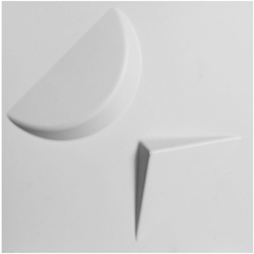 "11 7/8""W x 11 7/8""H Apollo EnduraWall Decorative 3D Wall Panel, White"