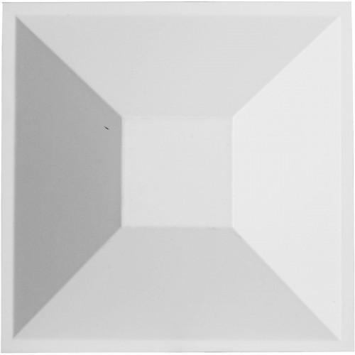 "11 7/8""W x 11 7/8""H Diane EnduraWall Decorative 3D Wall Panel, White"