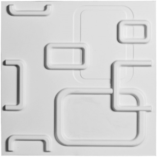"11 7/8""W x 11 7/8""H Oslo EnduraWall Decorative 3D Wall Panel, White"