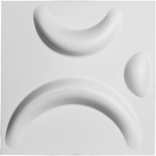 "11 7/8""W x 11 7/8""H Seville EnduraWall Decorative 3D Wall Panel, White"