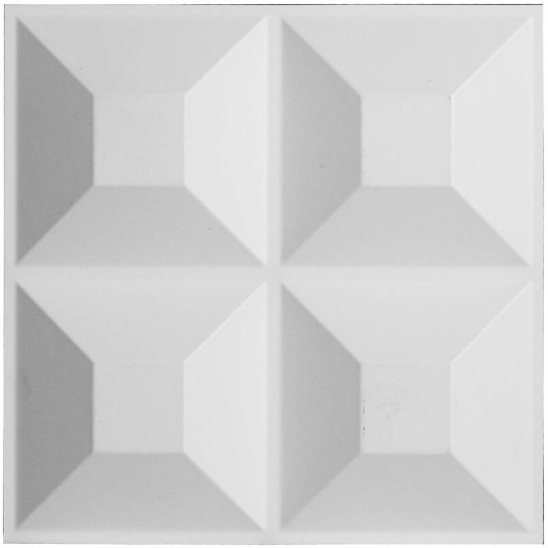 "11 7/8""W x 11 7/8""H Swindon EnduraWall Decorative 3D Wall Panel, White"