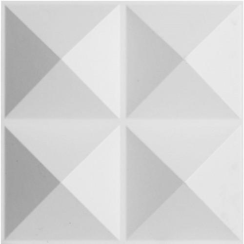 """11 7/8""""W x 11 7/8""""H Tirana EnduraWall Decorative 3D Wall Panel, White"""