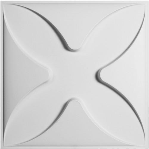 "19 5/8""W x 19 5/8""H Austin EnduraWall Decorative 3D Wall Panel, White"