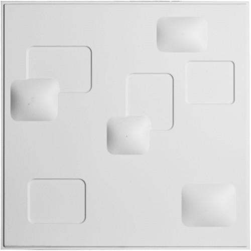 "19 5/8""W x 19 5/8""H Avila EnduraWall Decorative 3D Wall Panel, White"