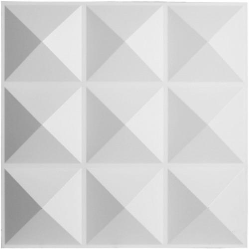 "19 5/8""W x 19 5/8""H Benson EnduraWall Decorative 3D Wall Panel, White"