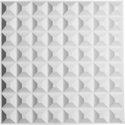 "19 5/8""W x 19 5/8""H Bradford EnduraWall Decorative 3D Wall Panel, White"
