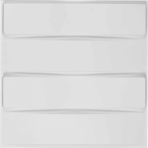 "19 5/8""W x 19 5/8""H Caputo EnduraWall Decorative 3D Wall Panel, White"