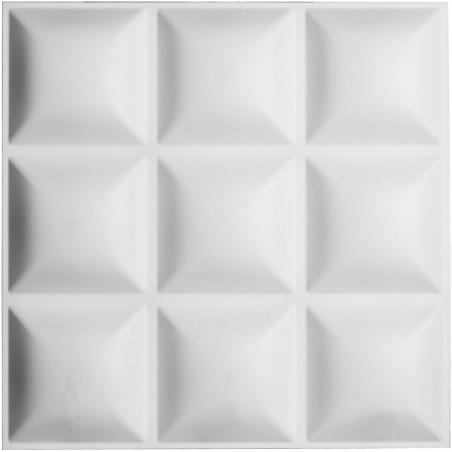 "19 5/8""W x 19 5/8""H Classic EnduraWall Decorative 3D Wall Panel, White"