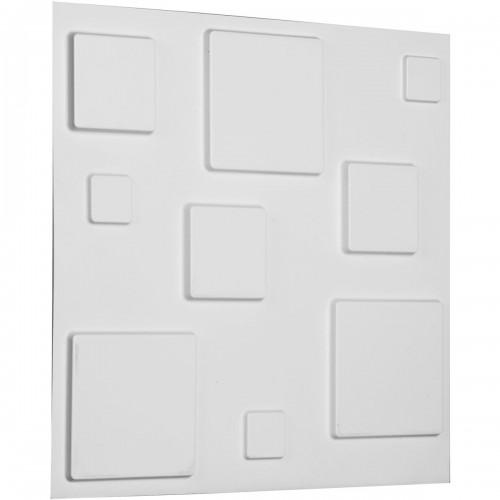 """19 5/8""""W x 19 5/8""""H Devon EnduraWall Decorative 3D Wall Panel, White"""