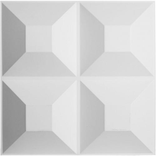 "19 5/8""W x 19 5/8""H Foster EnduraWall Decorative 3D Wall Panel, White"