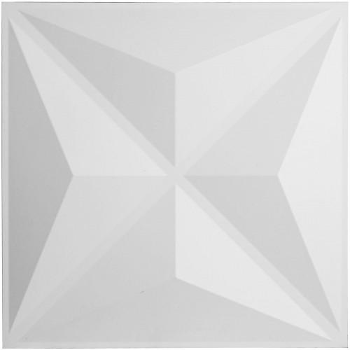 "19 5/8""W x 19 5/8""H Haven EnduraWall Decorative 3D Wall Panel, White"