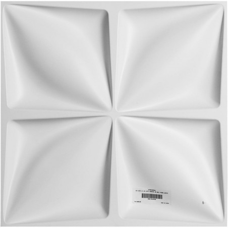 "19 5/8""W x 19 5/8""H Odessa EnduraWall Decorative 3D Wall Panel, White"