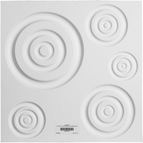 "19 5/8""W x 19 5/8""H Reece EnduraWall Decorative 3D Wall Panel, White"