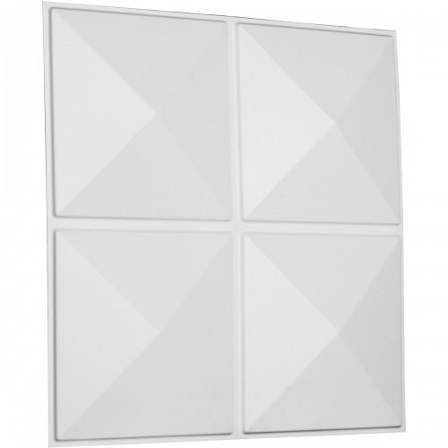 "19 5/8""W x 19 5/8""H Richmond EnduraWall Decorative 3D Wall Panel, White"
