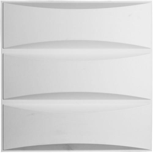 "19 5/8""W x 19 5/8""H Traditional EnduraWall Decorative 3D Wall Panel, White"