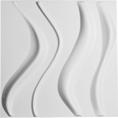 "19 5/8""W x 19 5/8""H Wave EnduraWall Decorative 3D Wall Panel, White"