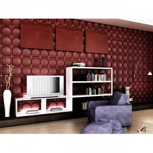 "19 5/8""W x 19 5/8""H Adonis EnduraWall Decorative 3D Wall Panel, White"