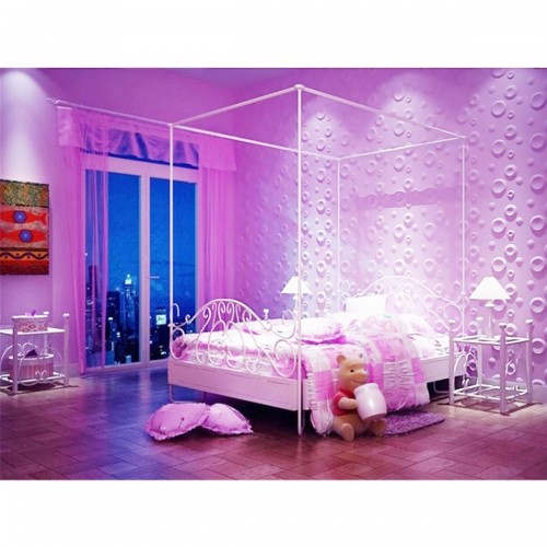 "11 7/8""W x 11 7/8""H Cole EnduraWall Decorative 3D Wall Panel, White"