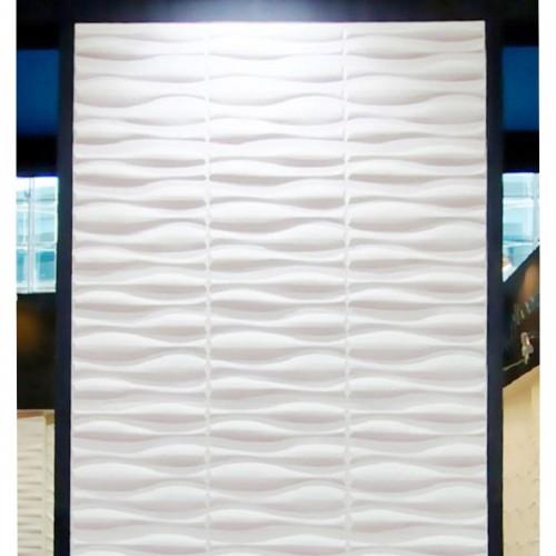 """19 5/8""""W x 19 5/8""""H Fairfax EnduraWall Decorative 3D Wall Panel, White"""