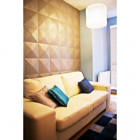 "11 7/8""W x 11 7/8""H Sellek EnduraWall Decorative 3D Wall Panel, White"