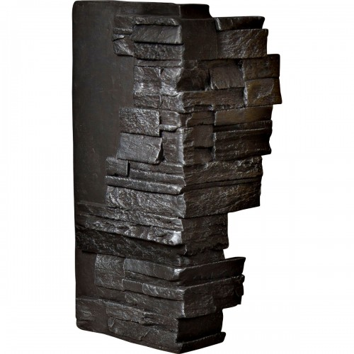"12""W Board Side & 11""W Finger Side x 25""H x 1 1/2""D Dry Stack Endurathane Faux Stone Outer Corner Siding Panel, Graphite"