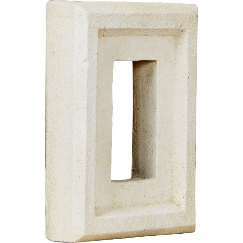 "6 1/4""W x 8 1/4""H x 2""D Universal Electrical Outlet for Endurathane Faux Stone & Rock Siding Panels, Dove White"