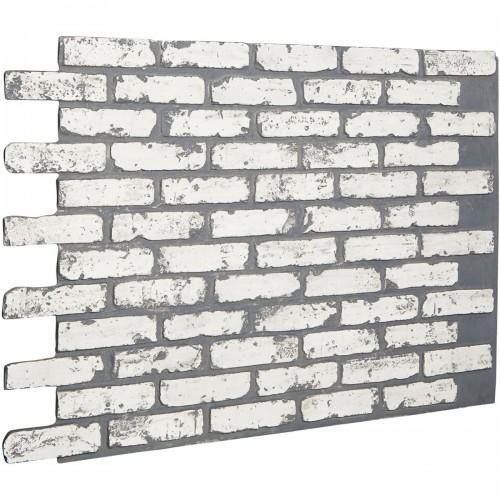 "46 5/8""W x 33 3/4""H x 7/8""D Old Chicago Endurathane Faux Brick Siding Panel, White Brick"