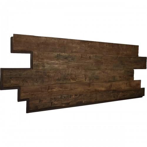 "98""W x 38""H x 1""D Hand Hewn Endurathane Faux Wood Siding Panel, Weathered Brown"