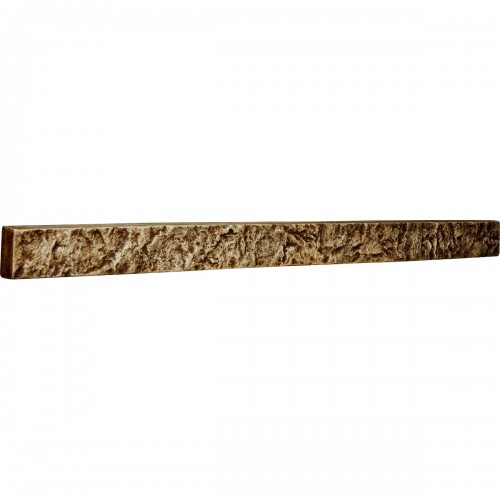 "48 1/4""W x 3""H x 2""D Universal Trim for Endurathane Faux Stone & Rock Siding Panels, Limestone"