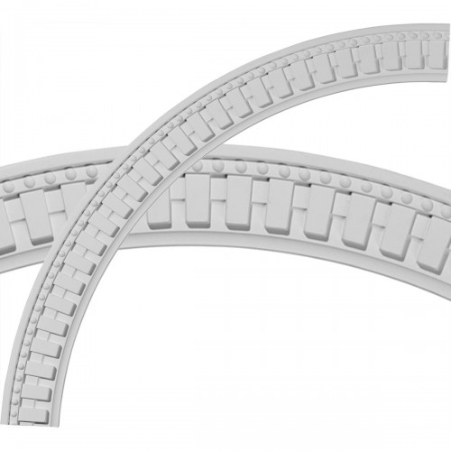 Dentil and Bead Ceiling Ring (1/4 of complete circle)