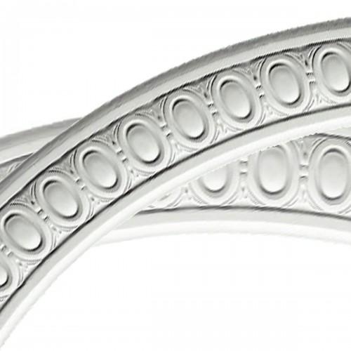 42OD x 36ID x 3W x 3/4P Egg and Dart Ceiling Ring (1/4 of complete circle)