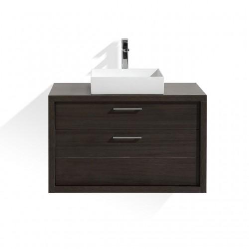 "Tucci 36"" Gray OakModern Bathroom Vanity by Kube Bath"