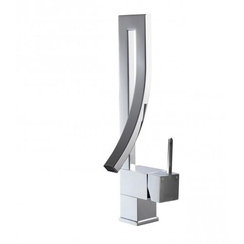 Aqua Elegance Single Lever Wide Spread Faucet - Chrome